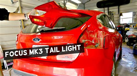 ford focus tail light cover replacement ford focus rear tail light removal replacement youtube