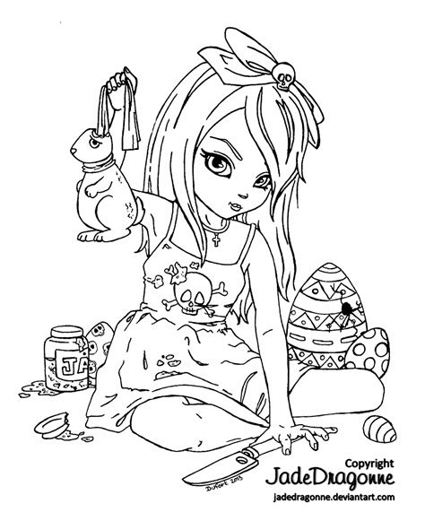 creepy coloring pages for teens coloring pages
