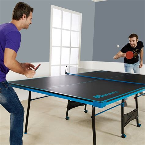 Ping Pong Table Tennis Black Blue Official Size Sports