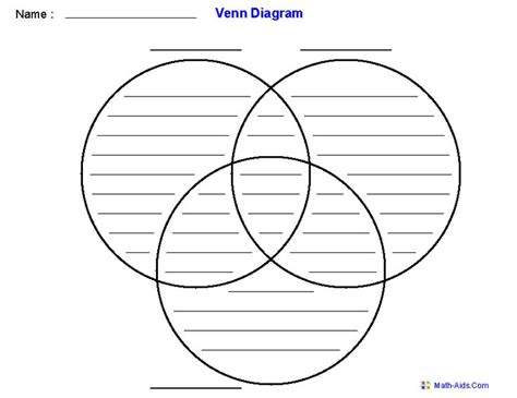 printable venn diagram 10 best venn diagram template images on pinterest venn