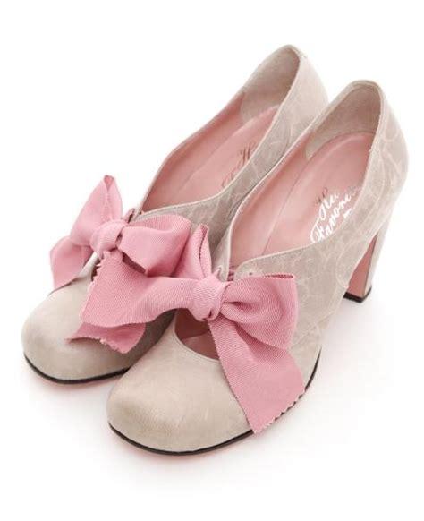 Big Ribbon Shoes Murah Meriah beautiful oatmeal suede shoes with pink grosgrain ribbons shoes beautiful