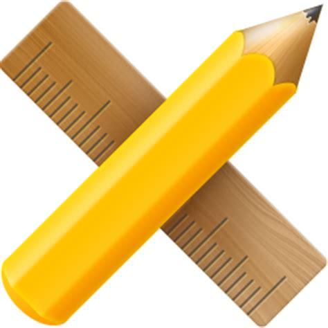 icon design pencil rule streamline 商务金融图标 站长素材