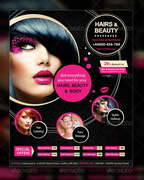 free templates for flyers hair salon 23 salon flyer templates free premium download