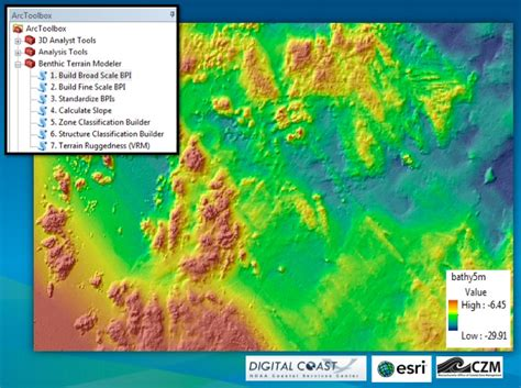 arcgis terrain tutorial benthic terrain modeler arcgis resource center