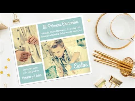 como imprimir tarjetas de invitacion en fotos como hacer una invitaci 211 n con fotos gratis comuni 211 n