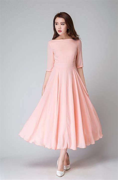 dress fira pink fanta wedding dress pink dress bridesmaid dress chiffon dress