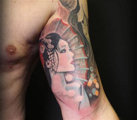 geisha girl tattoo forearm geisha tattoo images designs