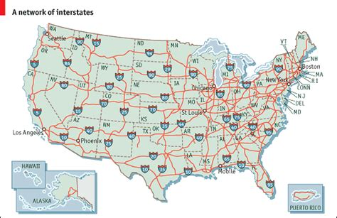 highway road map of united states re america the future of u s railroads part 2