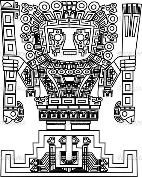 Inca God Wiracocha Reference Pinterest Coloring Inca Coloring Pages