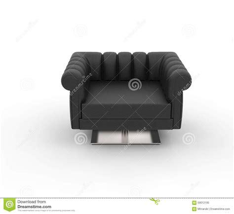 black leather armchair contemporary modern black leather armchair top view stock