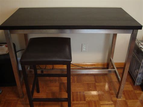Kitchen Bar Table Ikea Furniture Granite Top Kitchen Dining Table With Black Painted Wooden Base As Well As Bistro