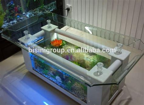 modern style acrylic rectagle coffee table aquarium fish