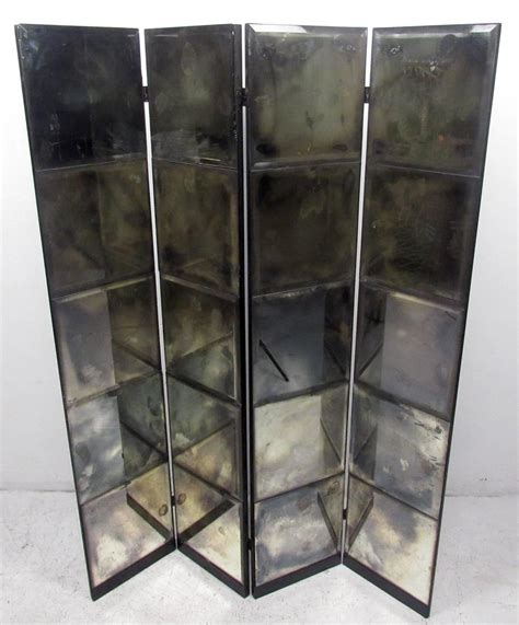 mirrored room divider unique mid century mirrored room divider at 1stdibs