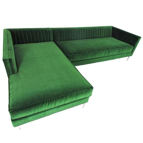 emerald sofa emerald velvet sectional for sale at 1stdibs