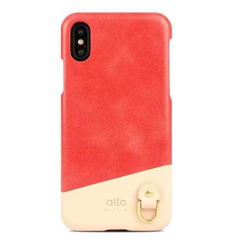 iphone xs anello leather coral alto iphone leather