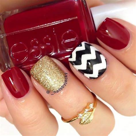 imagenes de uñas decoradas rojo y dorado ideas para decorar las u 241 as de rojo mis u 241 as decoradas
