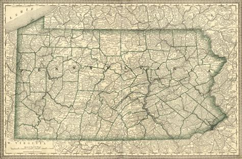 settlement of pennsylvania classic reprint books pennsylvania state 1881 rand mcnally historic map reprint