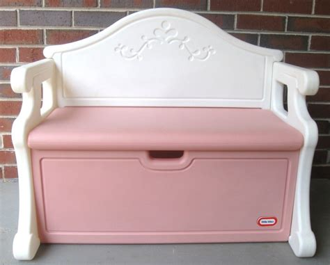 little tikes victorian toy box bench book case pink