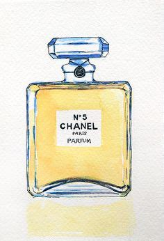 Chanel No 22 Ori Reject poster print of vintage perfume bottle chanel no 5 painting by marley ungaro vintage perfume