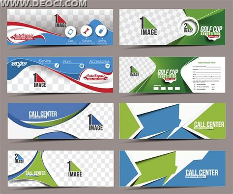 Banner Design Template Psd Free Download | 8 call center banners advertising design template eps