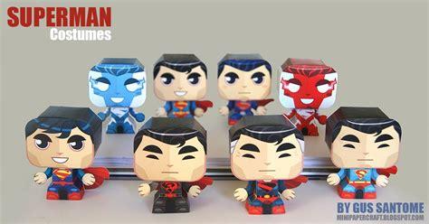 Superman Papercraft - mini papercraft superman costumes