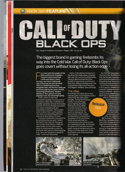tribe console call of duty black ops gli scan dell official xbox