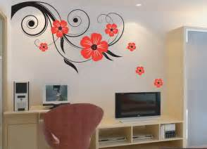 sticker wall decoration decor ideas about floral flowers decal art stickers transfers
