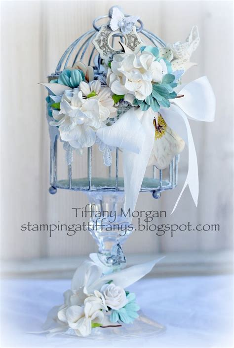 altered shabby chic bird cage birdcages with flowers