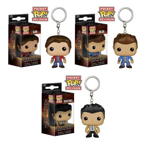 Funko Pocket Pop Keychain Television Supernatural Castiel supernatural pocket pop things supernatural pockets and pop