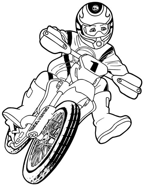 transportation motorcycle colouring pages