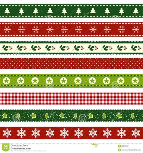 christmas tree ribbon pattern set of christmas ribbon patterns stock vector image