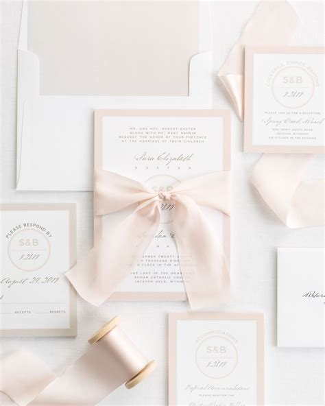 Wedding Invitations Ribbon by Modern Circle Logo Ribbon Wedding Invitations Ribbon
