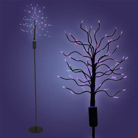 fiber optic tree black contemporary table ls by