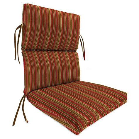Deck Chair Cushions by High Back Outdoor Chair Cushion For Patio Striped Block