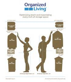 organized living standard clothes measurements for your