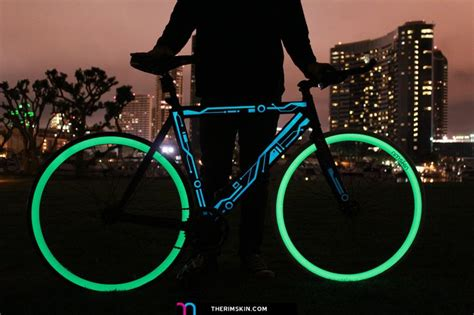 glow in the paint bicycle the one and only rimskin bike with glow in the
