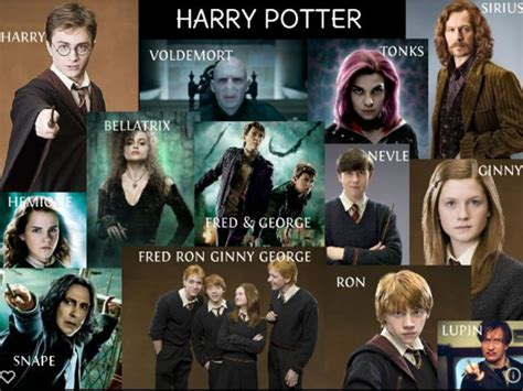 best harry potter characters list of favorite characters name 100 harry potter characters wroc awski informator