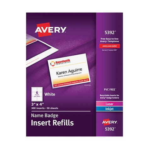 Avery Name Badge Inserts Avery 3m Templates