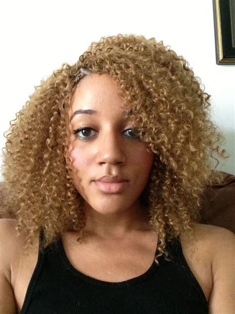 blonde crochet braids latch hook natural hair
