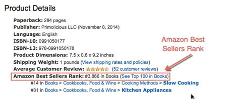 amazon s best seller rank what is the amazon sales rank self publish a cookbook com