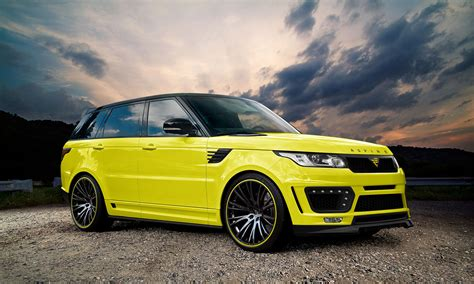 land rover yellow range rover body kits by aspire design co uk