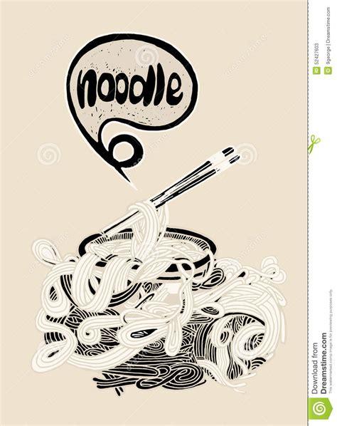 doodle noodle doodle noodle background stock vector image