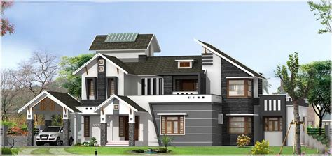home design on sloping roof kerala house design at 3136 sq ft with pergolas