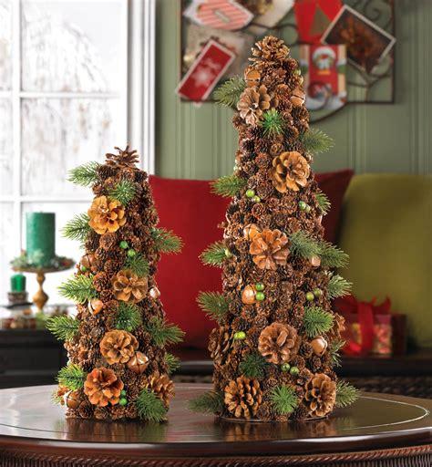 wholesale rustic pine cone christmas tree decor small
