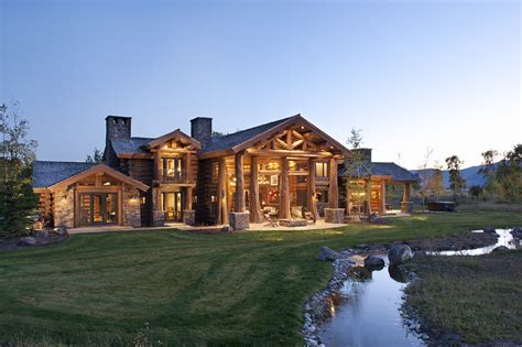 log home mansions luxury log cabin homes wsj mansion idaho logs and