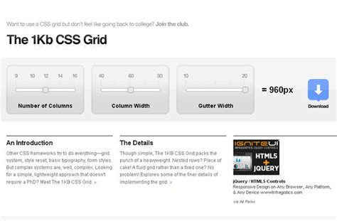 layout grid bookmarklet 55 great and useful tools for responsive web design