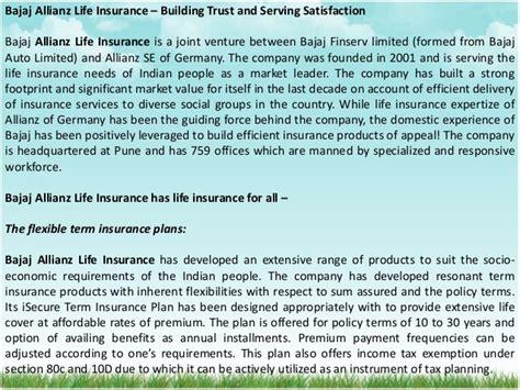 bajaj allianz policy fund value bajaj allianz insurance