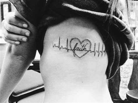 my first tattoo my ekg before my surgery the love and