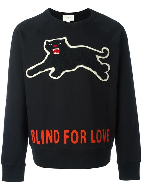 Baju Sweater Gucci Branded Murah Fit Xl lyst gucci panther sweatshirt in black for