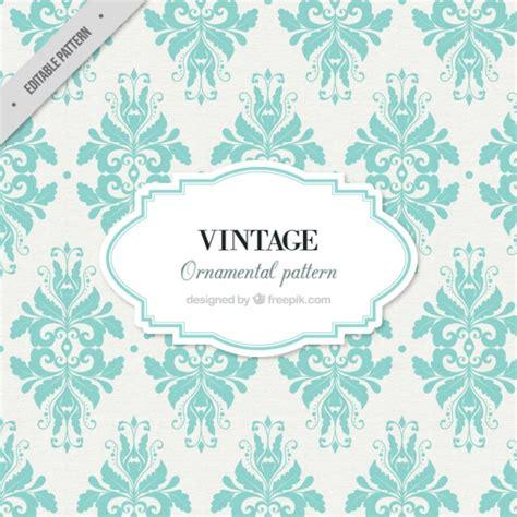 pattern vintage freepik vintage ornamental pattern with floral decoration vector